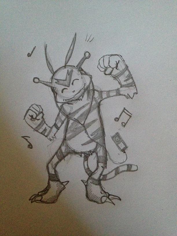 Pokémon-Zeichnung: Elektek