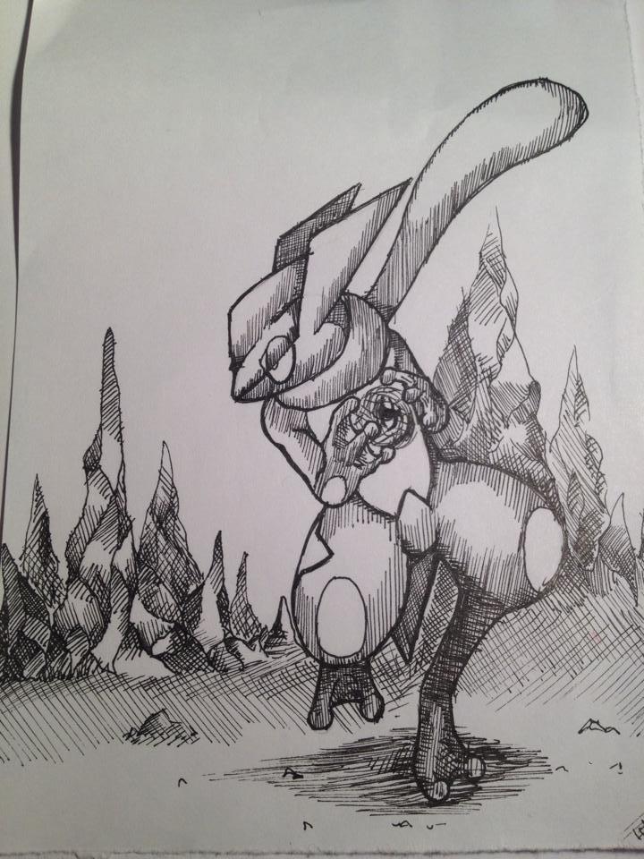 Pokémon-Zeichnung: Quajutsu
