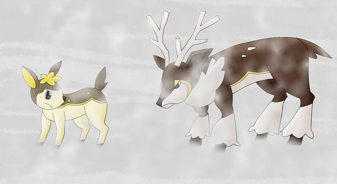 Pokémon-Zeichnung: Der Weg durch den Schneesturm