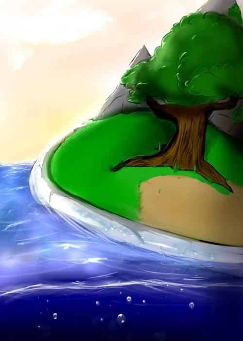 Pokémon-Zeichnung: Schwimmendes Chelterrar