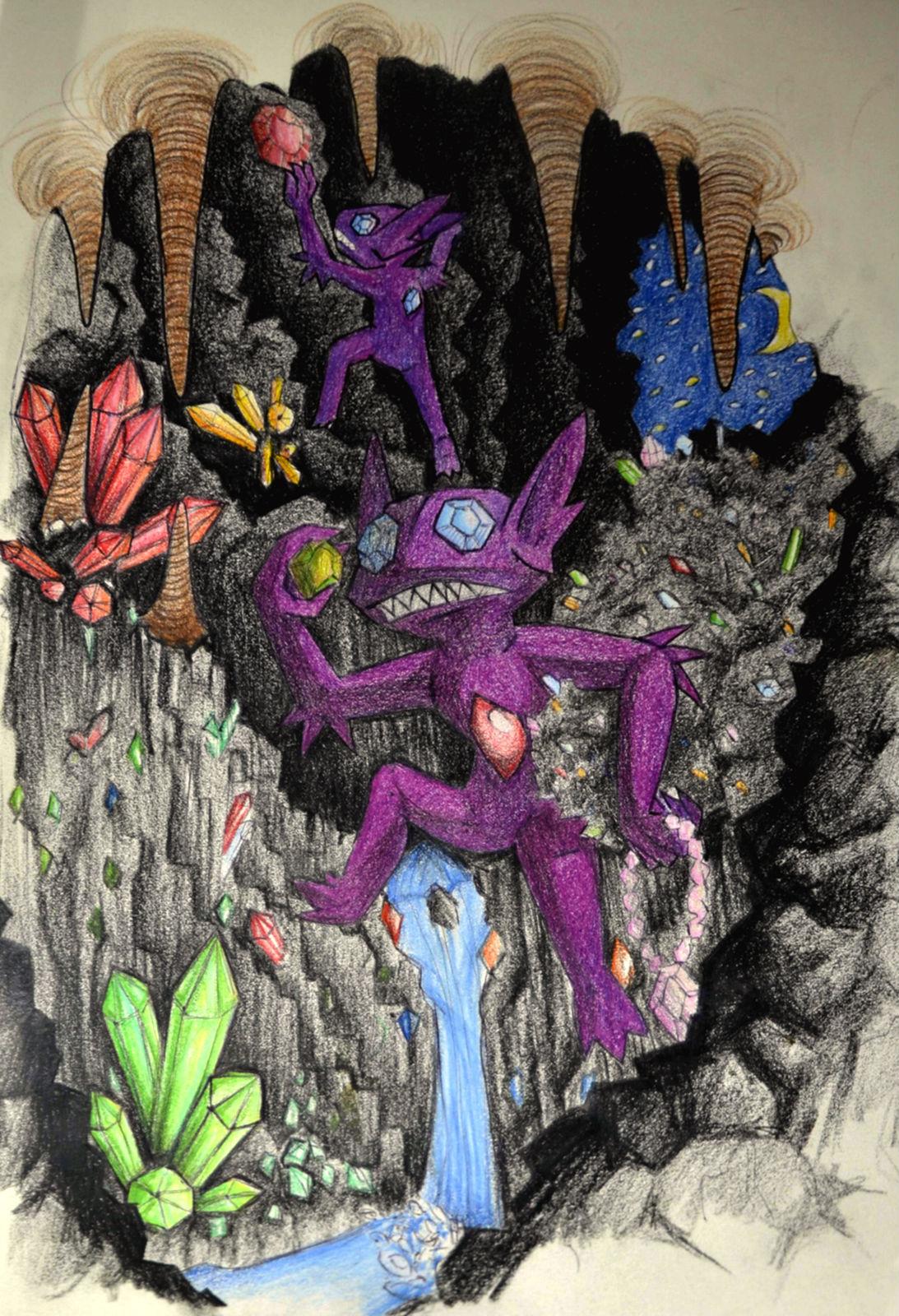 Pokémon-Zeichnung: Gemstone cavern