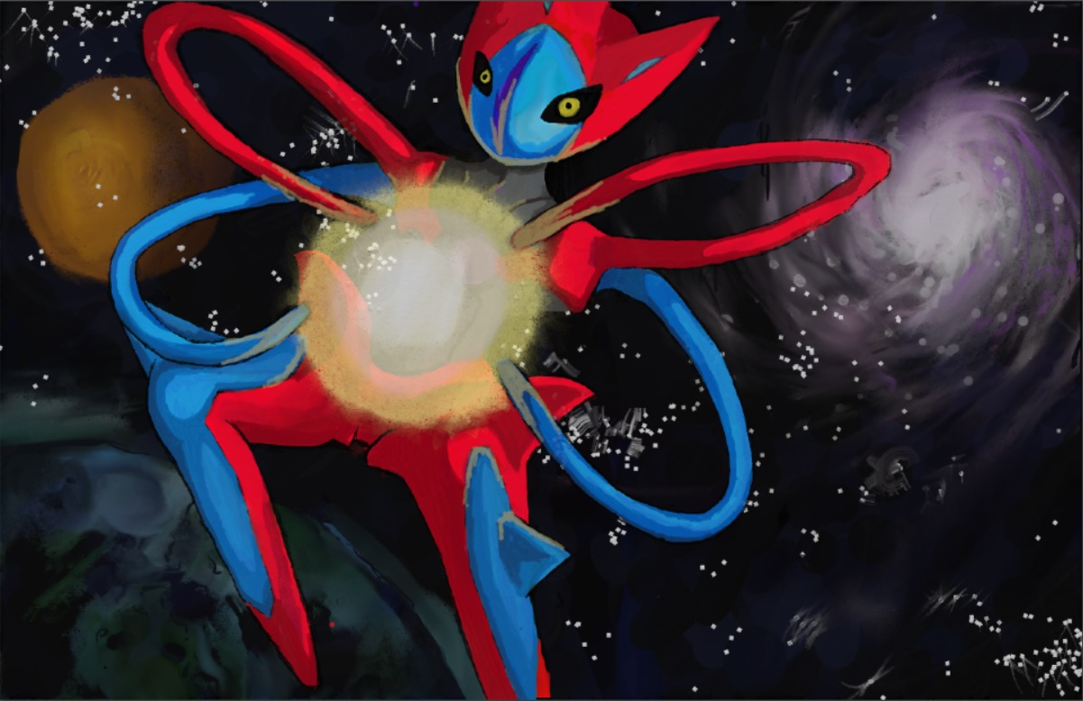 Pokémon-Zeichnung: Deoxys