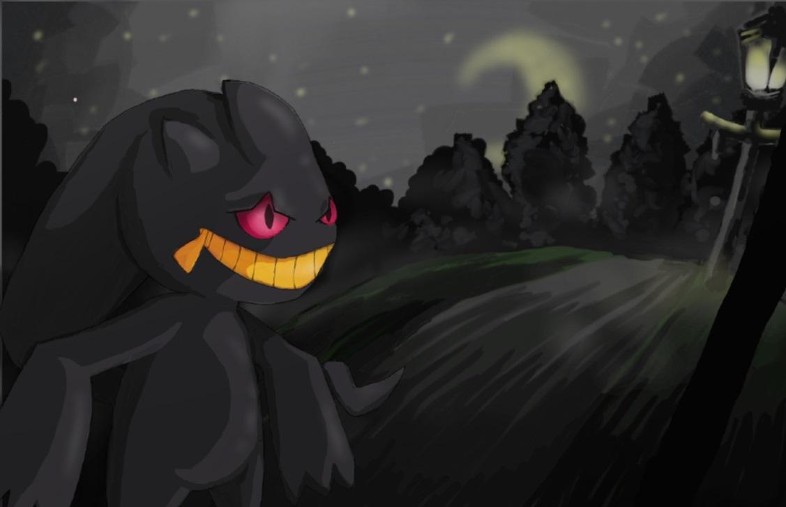 Pokémon-Zeichnung: Im Nebel der Nacht