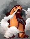 Torkoal raucht!