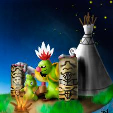 Pokémon-Zeichnung: Xatus Nachahnen