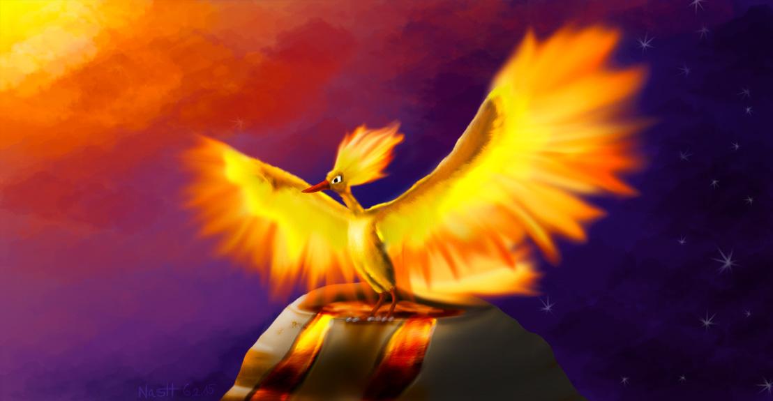 Pokémon-Zeichnung: Rise like a phoenix – ohne Conchita :P