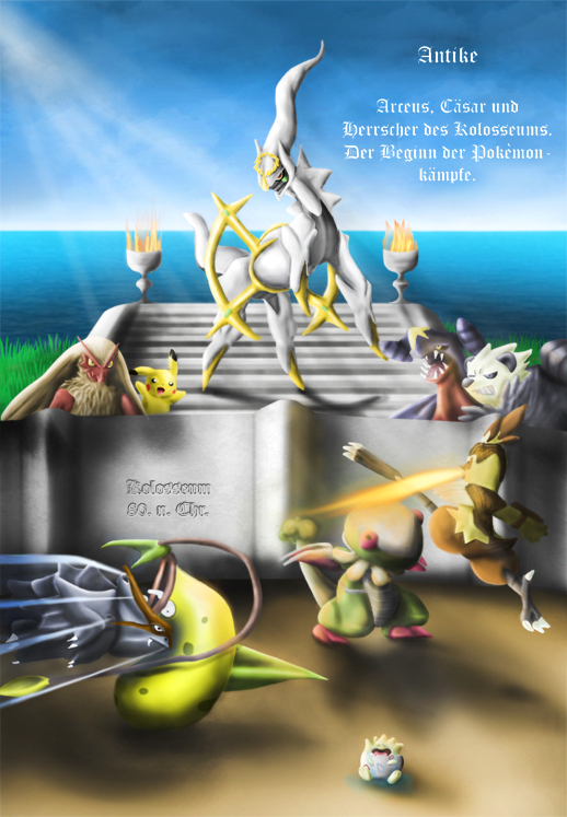 Pokémon-Zeichnung: Kolosseum