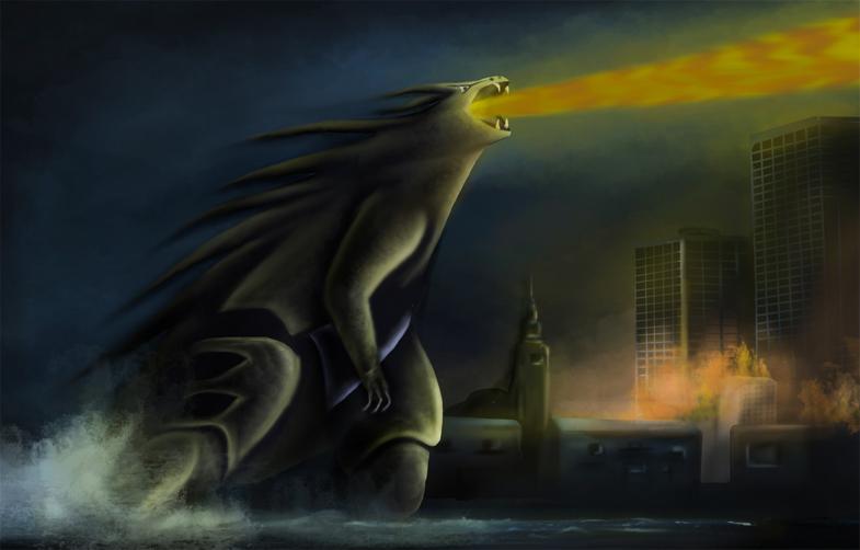 Pokémon-Zeichnung: Godzilla