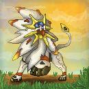 Pokémon-Pixelart: Solgaleo