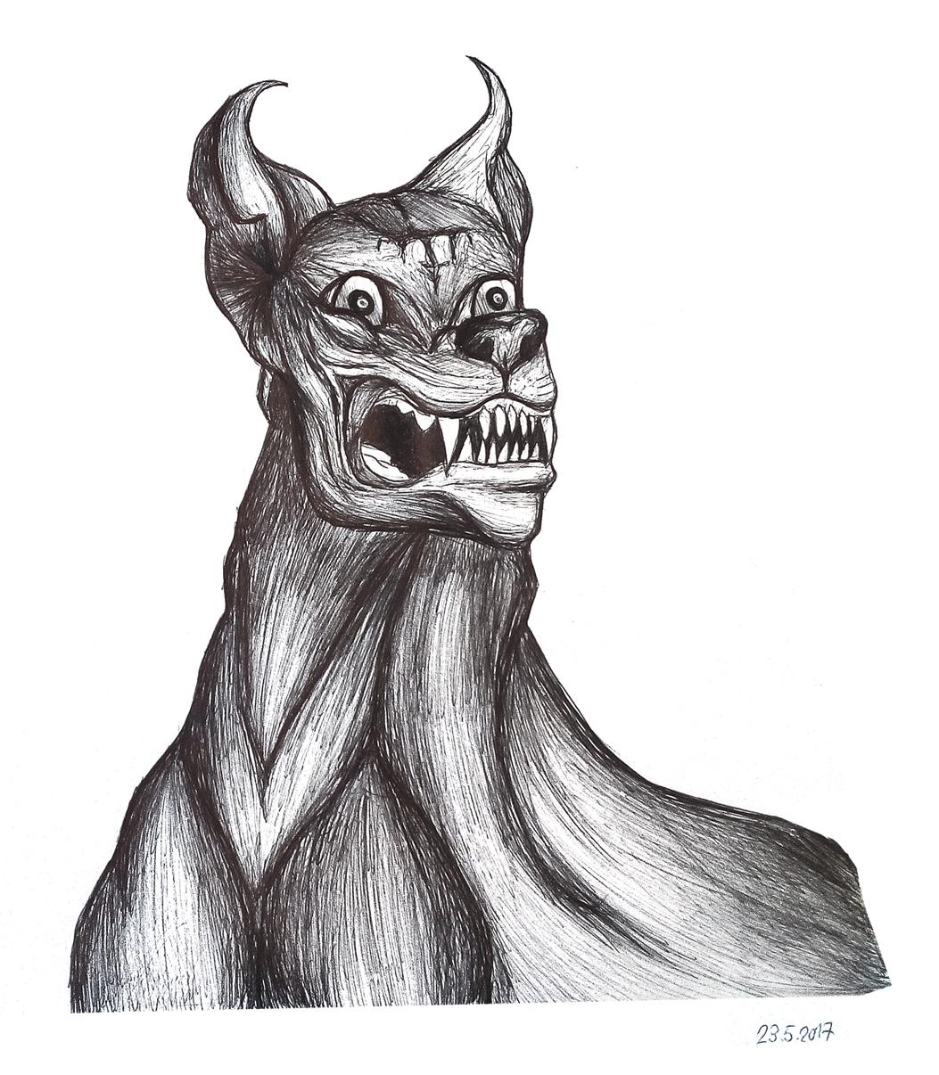 Pokémon-Zeichnung: Demon