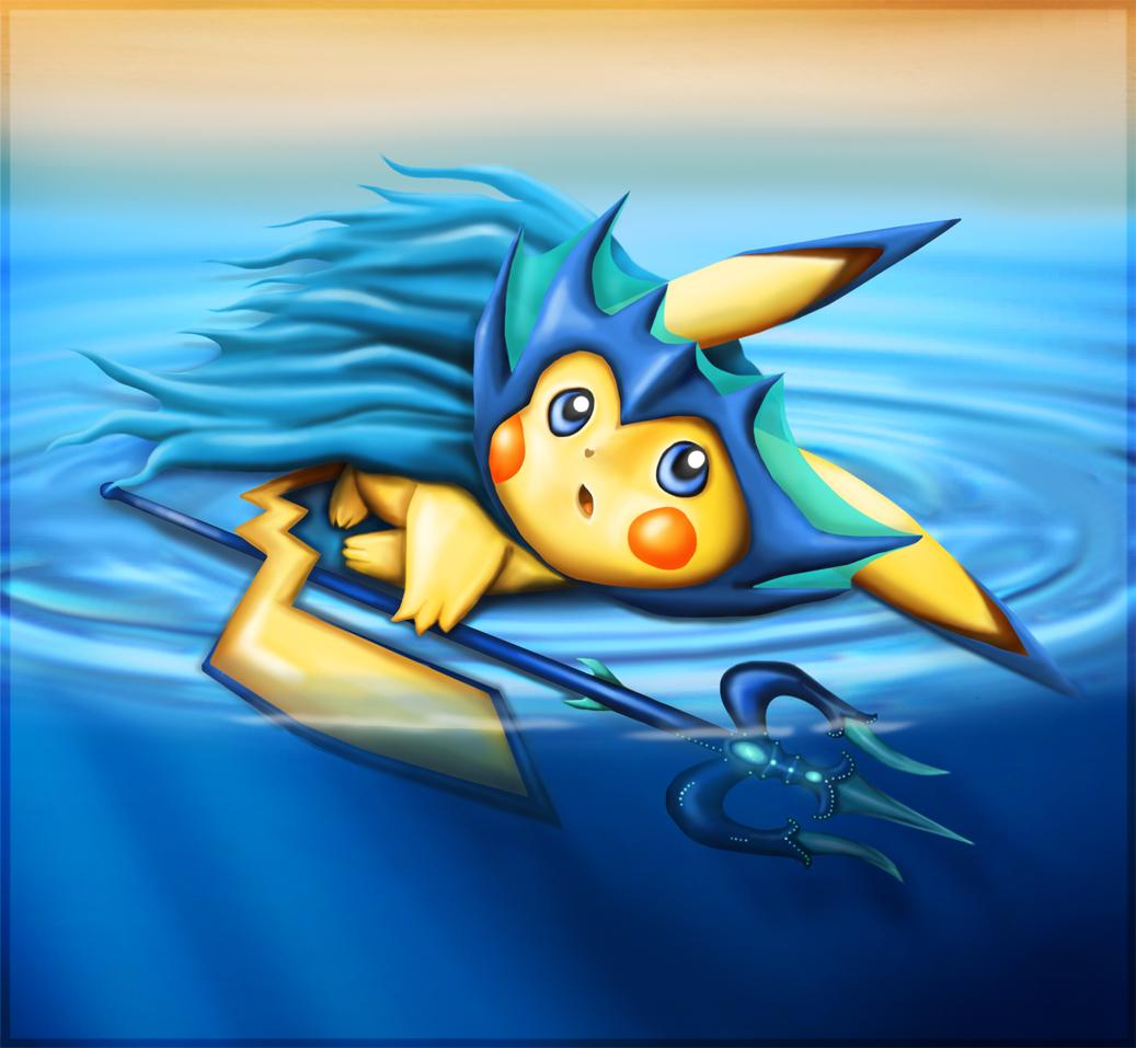 Pokémon-Zeichnung: Poseidon-Pikachu