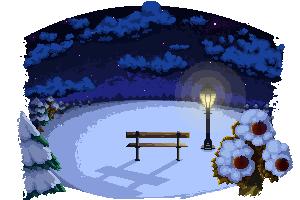 Pokémon-Pixelart: Winteriges Pixelart