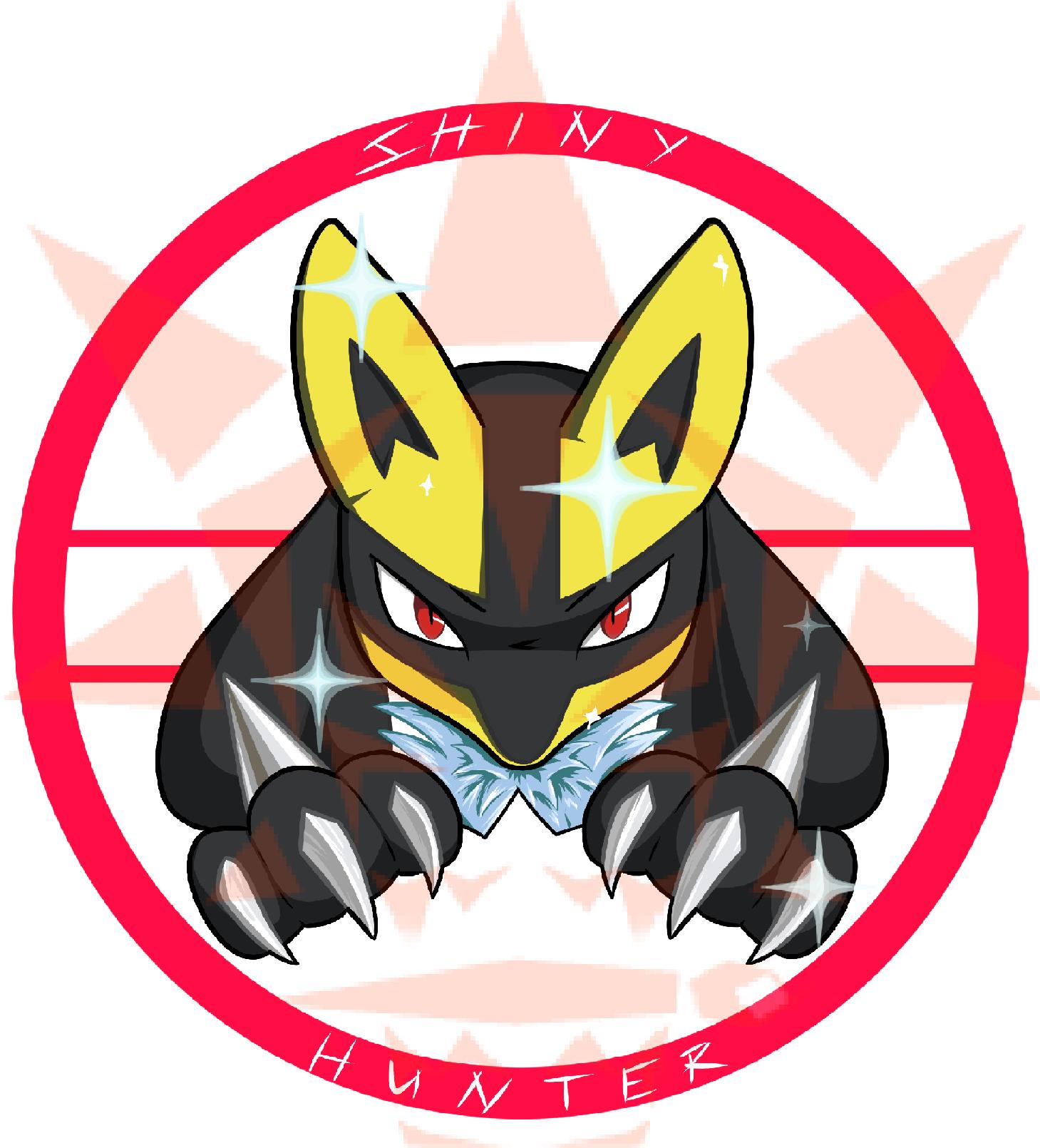 Pokémon-Zeichnung: Shiny HUnter T-Shirt Design