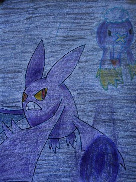 Pokémon-Zeichnung: Drifzepeli VS Iksbat
