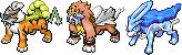 Pokémon-Sprite: Shiny Legendäre Raubkatzen! ^^ (Ranger)