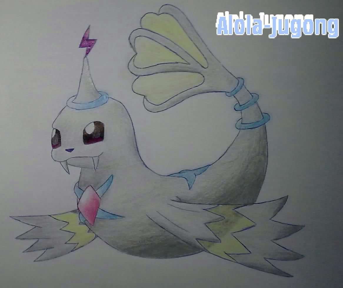 Pokémon-Zeichnung: Challenge/21: Alola-Jugong