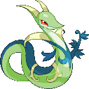 Pokémon-Pixelart: Shiny Serpiroyal Conquest