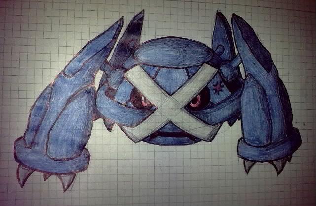 Pokémon-Zeichnung: Metagross ._.