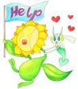Floette auf Blumenschau