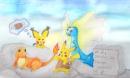 Pikachu hat Feuer gemacht