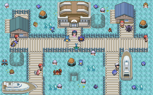 Pokémon-Map: Eine kleine Wasserstadt