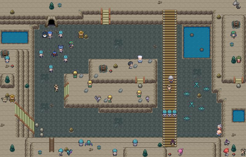 Pokémon-Map: Kleine Höhle im Kraterberg