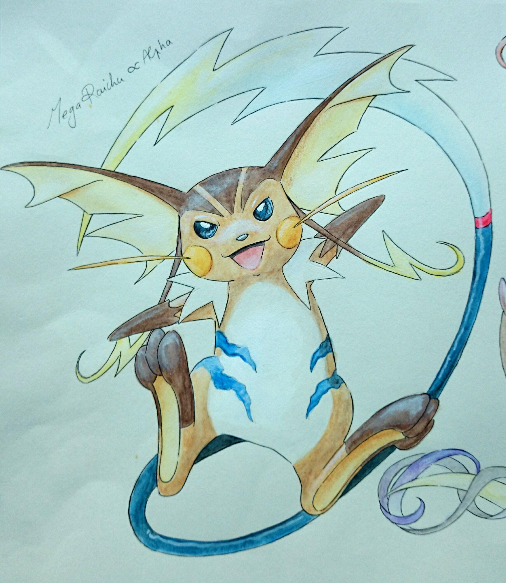 Pokémon-Zeichnung: Mega Raichu Alpha