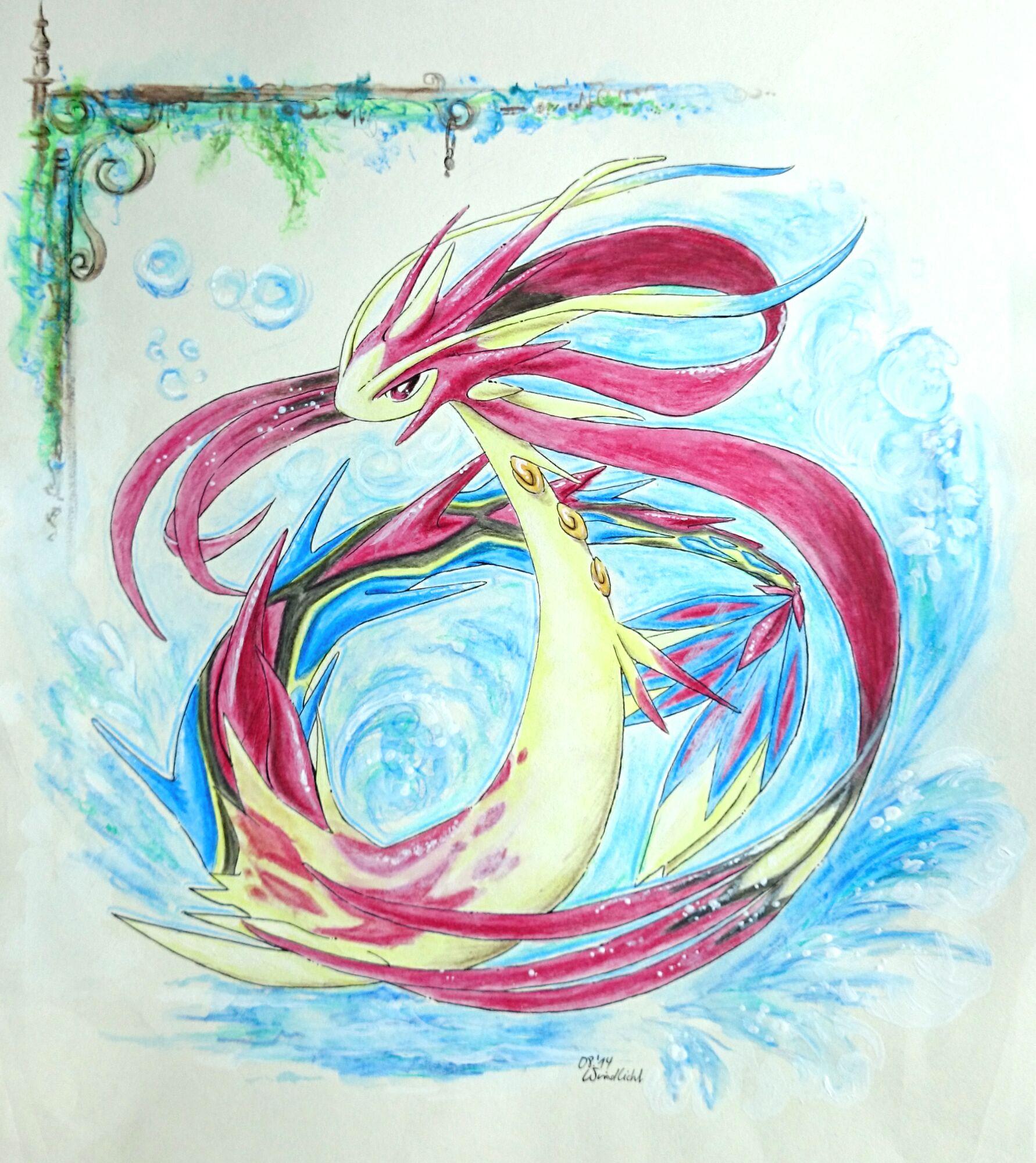 Pokémon-Zeichnung: Mega Milotic