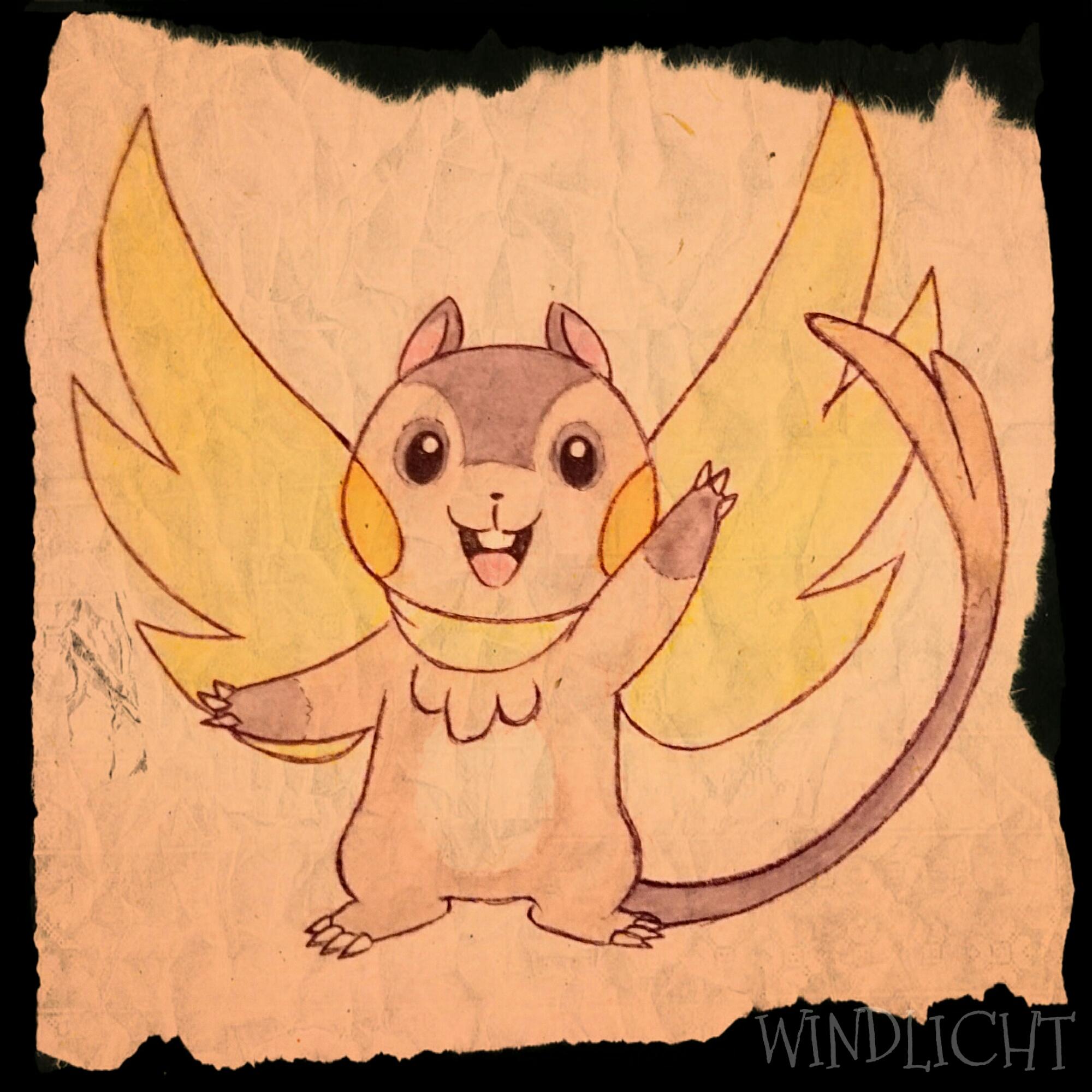 Pokémon-Zeichnung: Elektromaus Pokemon