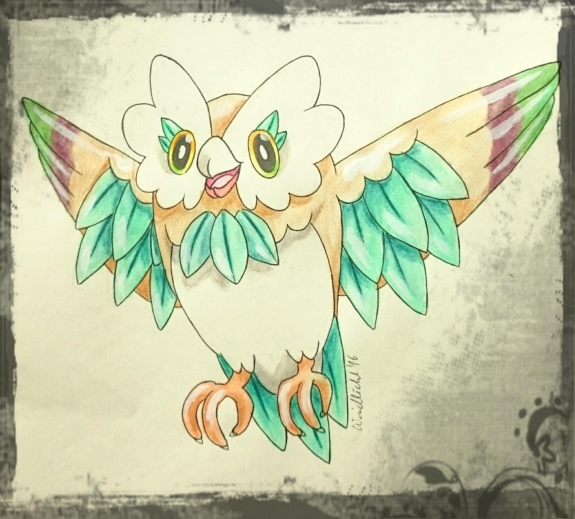 Pokémon-Zeichnung: Entwicklung von Bauz
