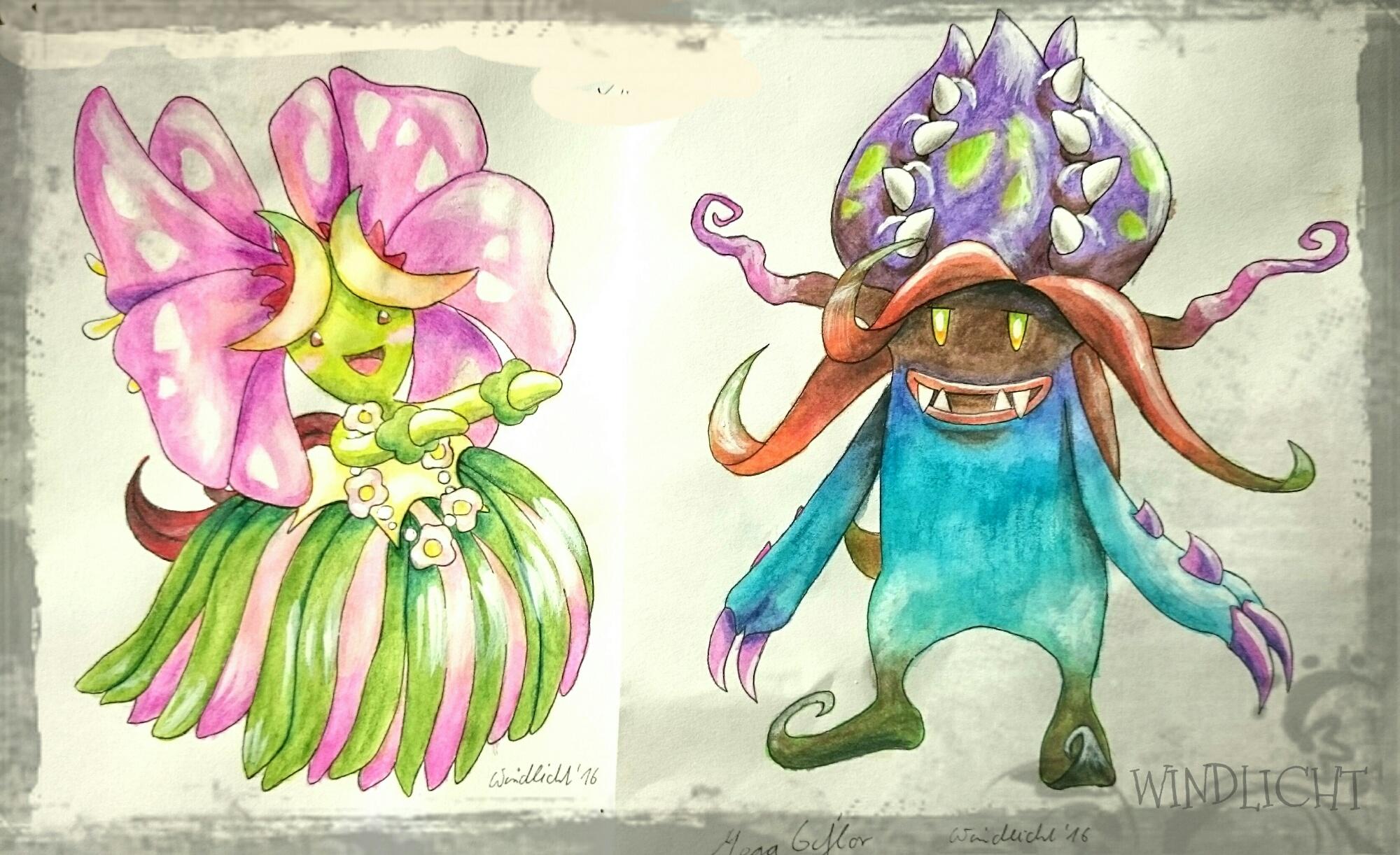 Pokémon-Zeichnung: Mega Exotic