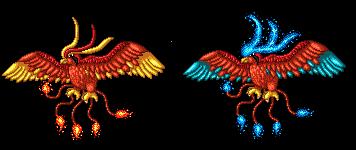Pokémon-Pixelart: Tauboss-Feuer