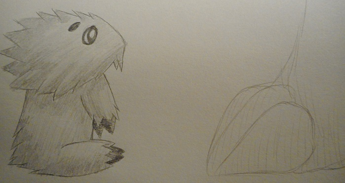 Pokémon-Zeichnung: Wattzapf