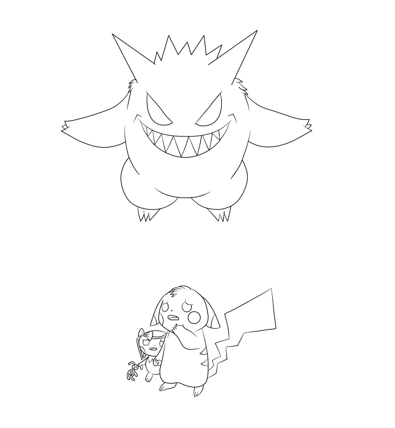 Pokémon-Zeichnung: Fürchterliches Gengar