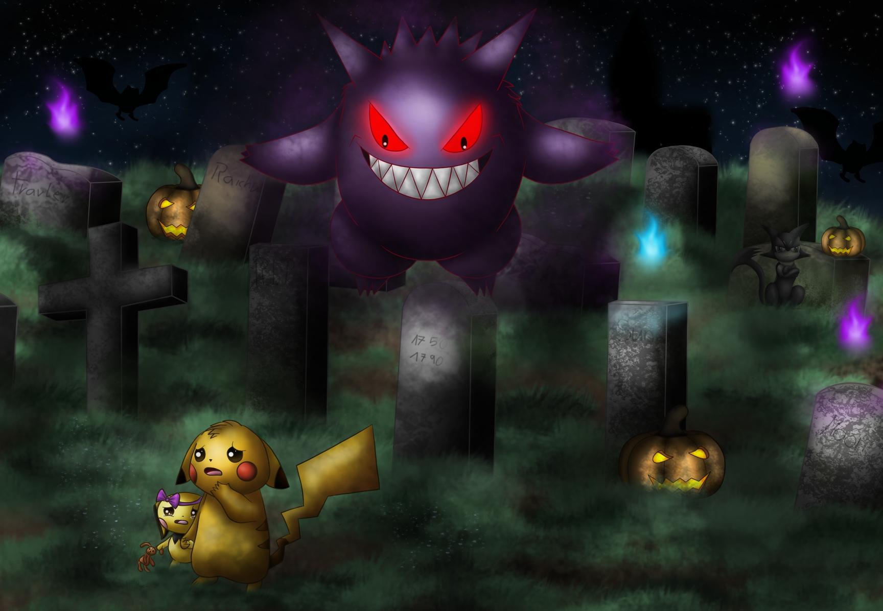 Pokémon-Zeichnung: It's Halloween