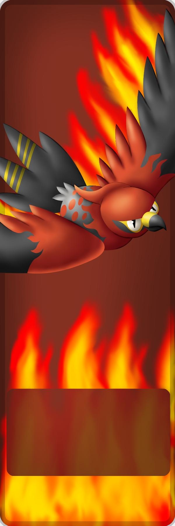 Pokémon-Zeichnung: Fiaro in Flammen
