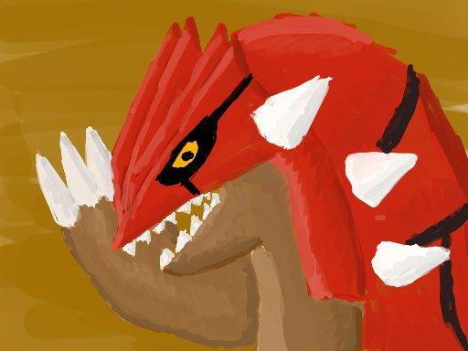 Pokémon-Zeichnung: Groudon