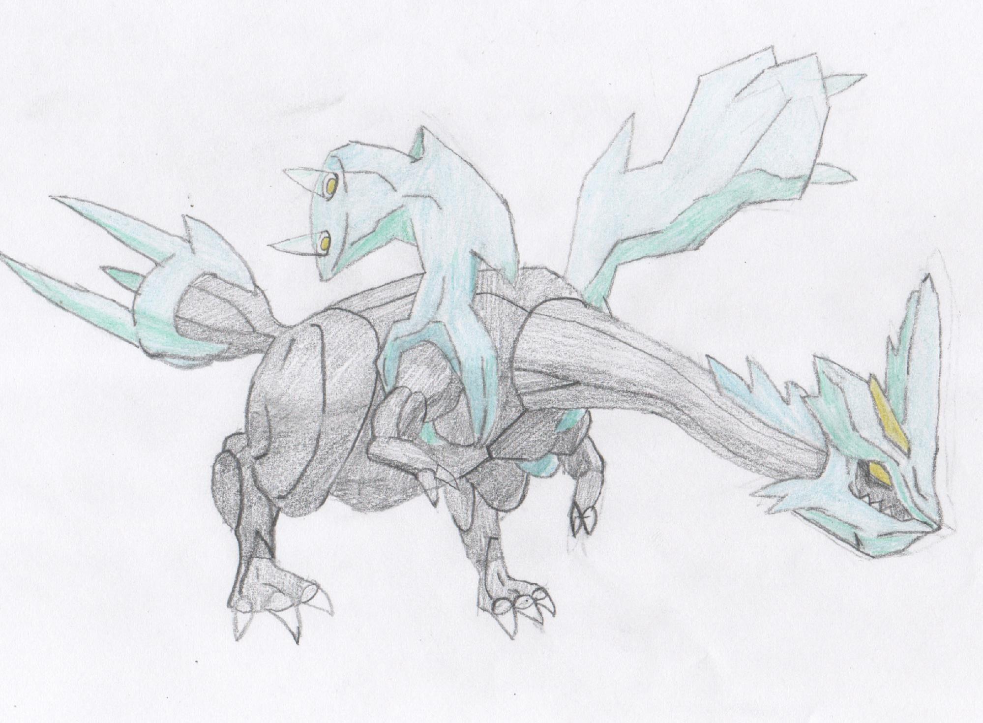 Pokémon-Zeichnung: Zeichnung von Kyurem.