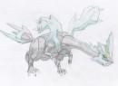 Zeichnung von Kyurem.