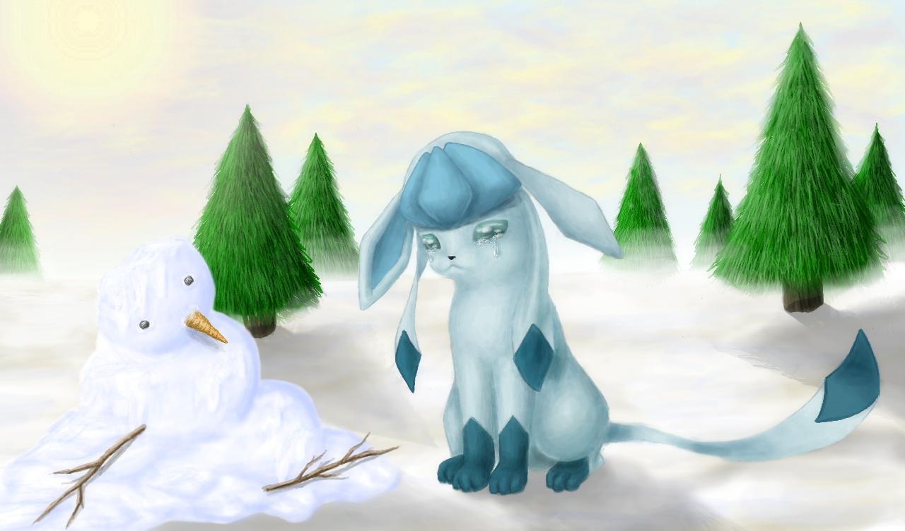 Pokémon-Zeichnung: Glaziolas kleiner Freund