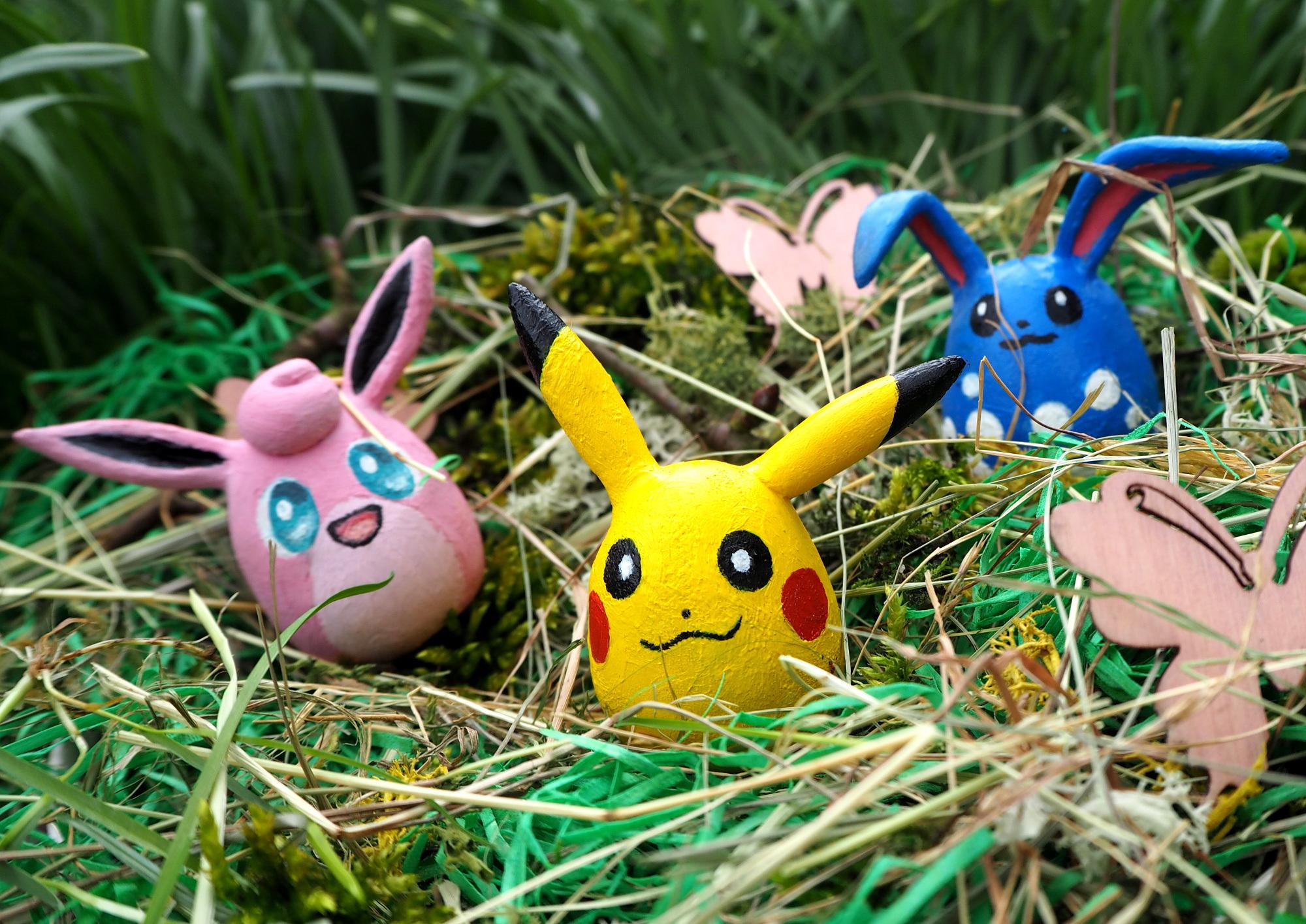 Foto: Osternest mit Pokemon..äh..eiern