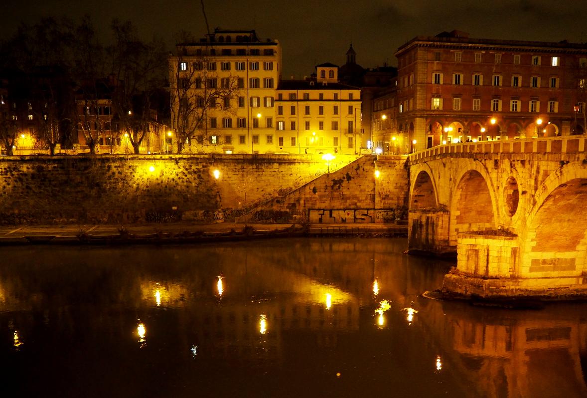 Foto: Abend am Tiber