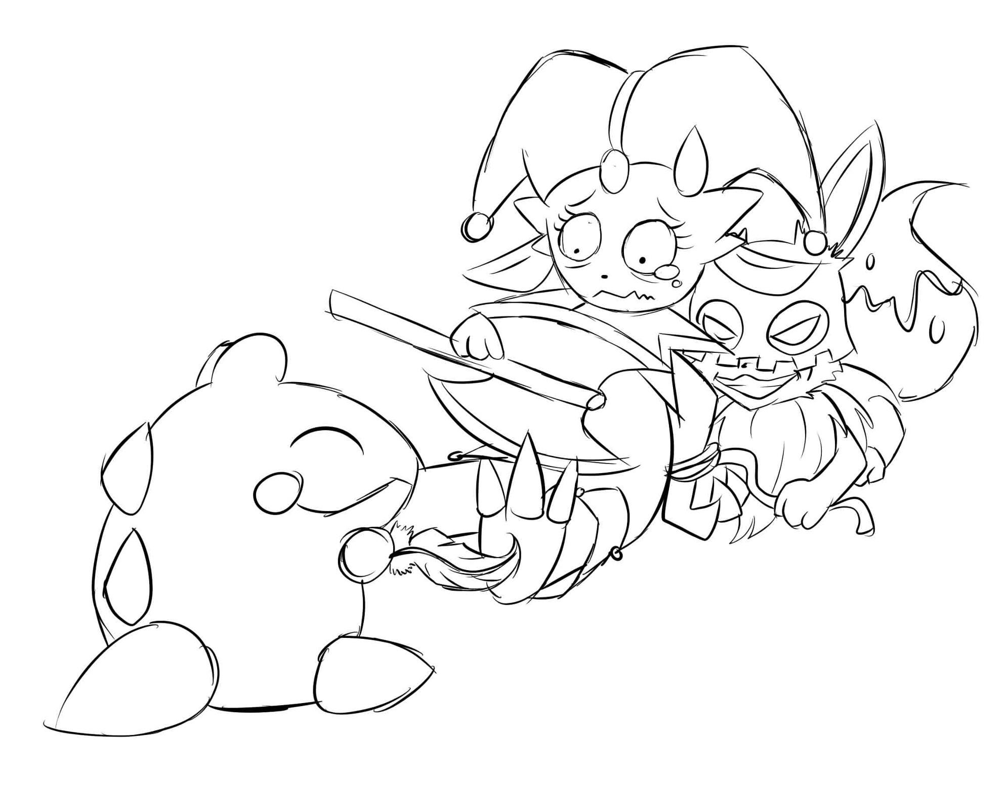 Pokémon-Zeichnung: Kille kille, Snibunnarr!