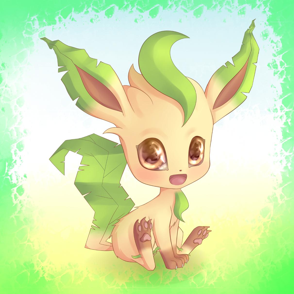 Pokémon-Zeichnung: Kawaii-Leafeon