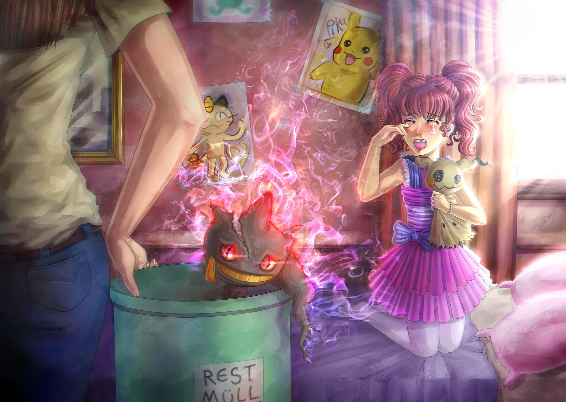 Pokémon-Zeichnung: Banettes Fluch