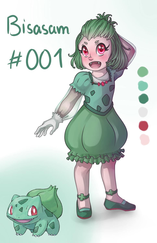 Pokémon-Zeichnung: 001 Bisasam