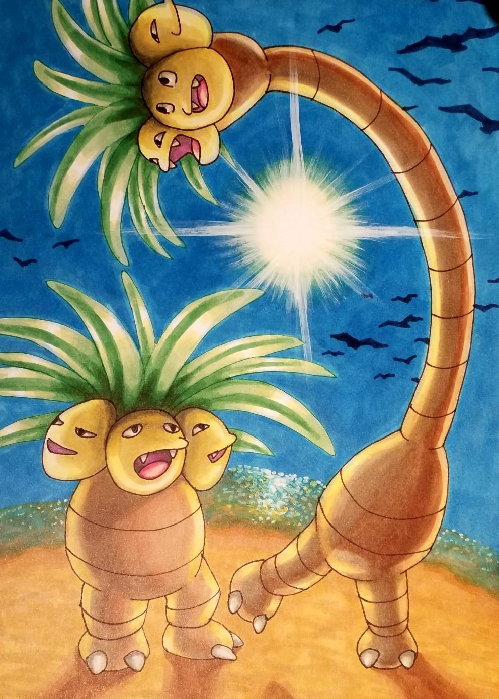 Pokémon-Zeichnung: Kokowei für Kokowei