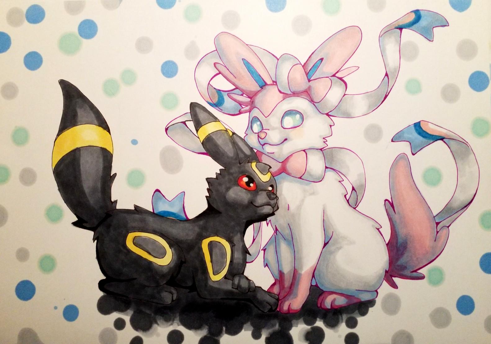 Pokémon-Zeichnung: Gegensätze ziehen sich an