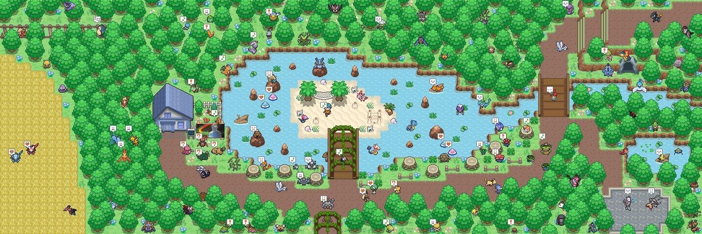 Pokémon-Map: Kleiner Wald mit Insel
