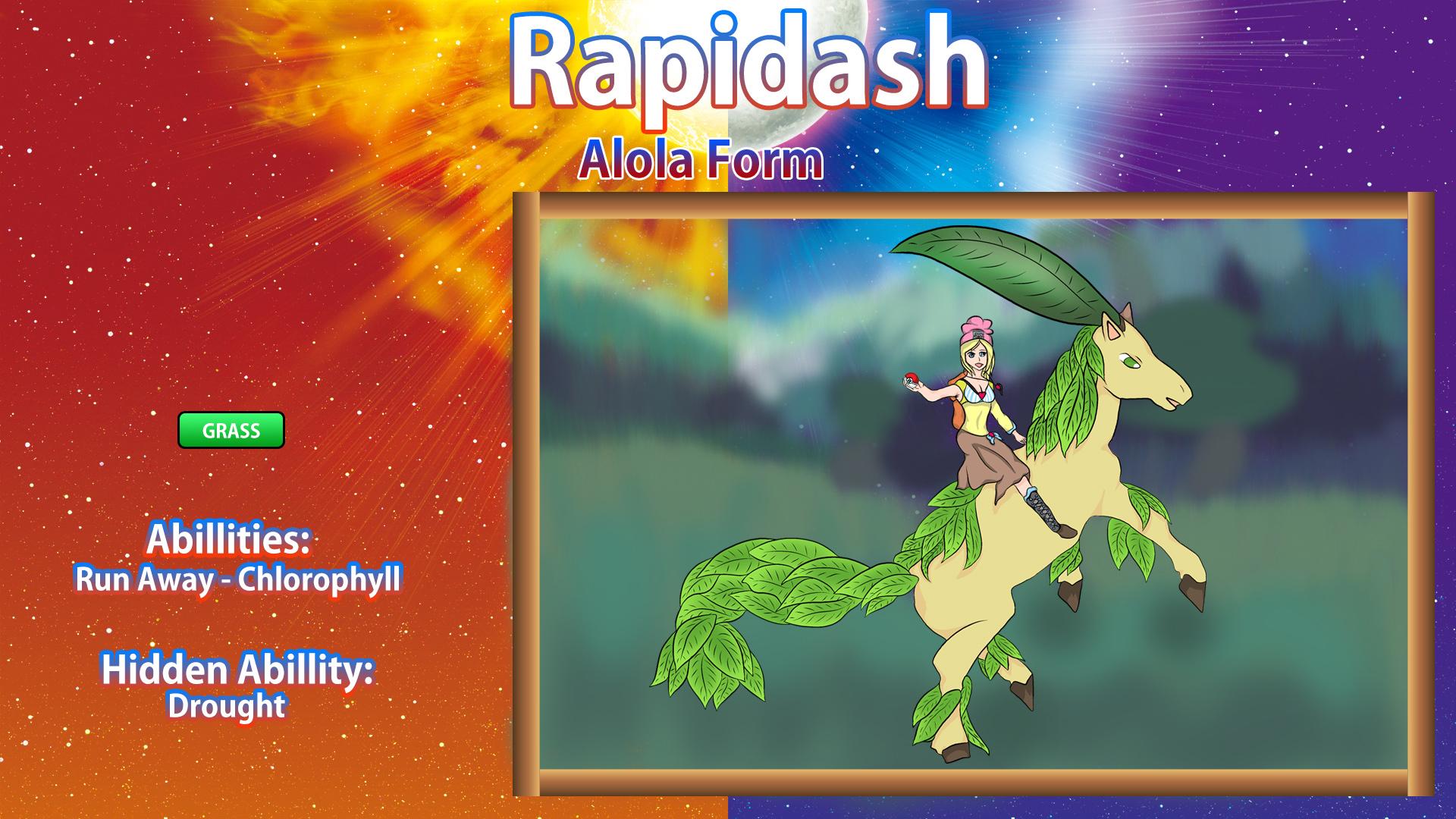 Pokémon-Zeichnung: Alola - Gallopa Challenge/21